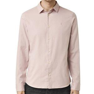 AllSaints Men's Bixby Shirt, Sphinx Pink